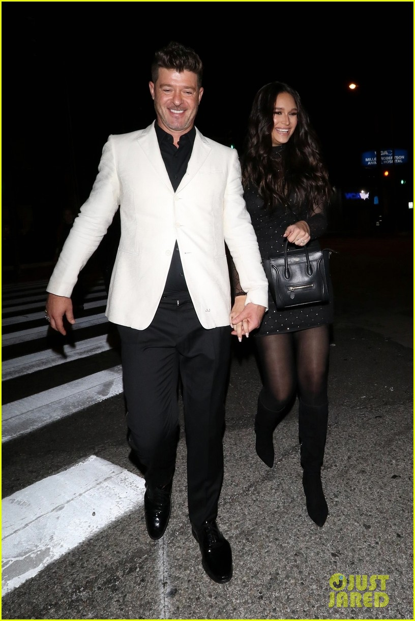 robin thicke april love geary couple up for night out 054255313