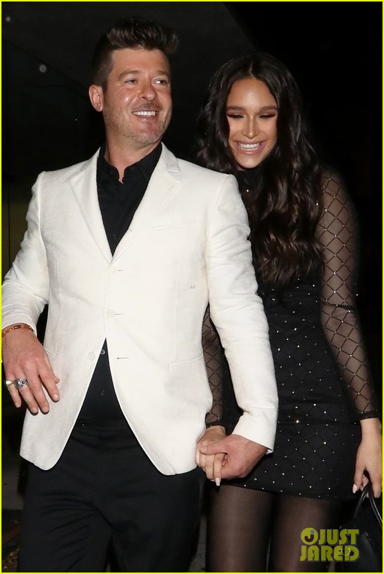 robin thicke april love geary couple up for night out 064255314
