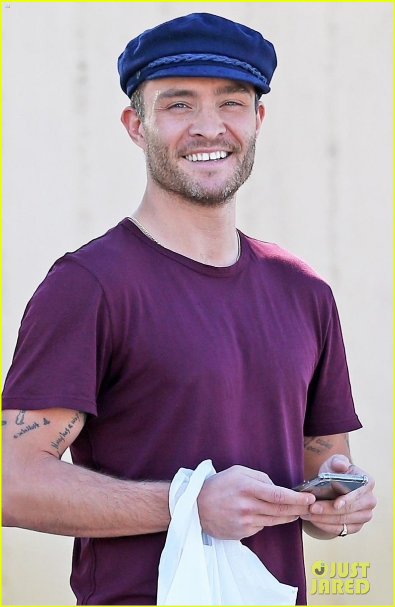 ed westwick is all smiles at lunch in la 024258089