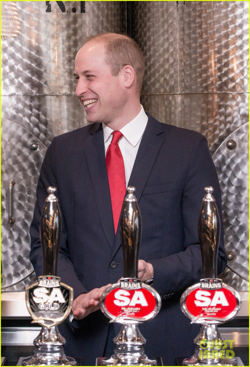 prince william takes tour of new brains dragon brewery in wales 02