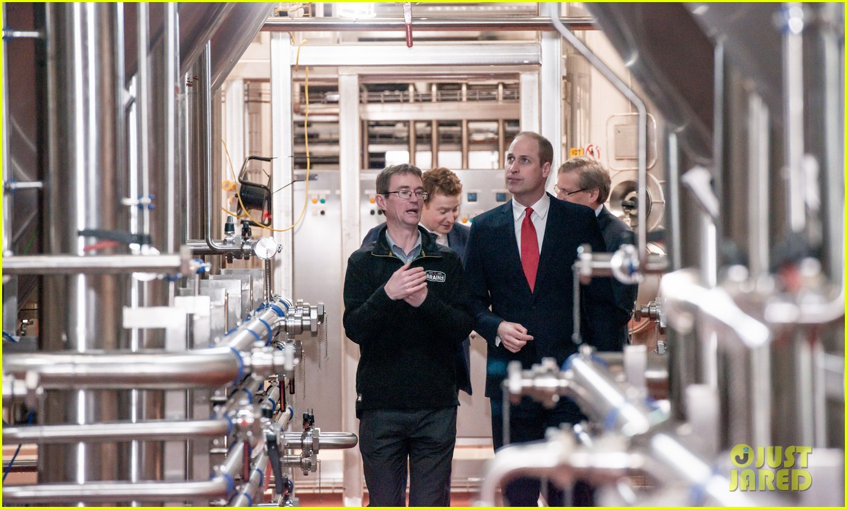 prince william takes tour of new brains dragon brewery in wales 04
