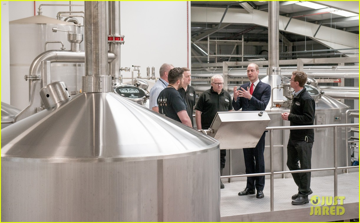 prince william takes tour of new brains dragon brewery in wales 06