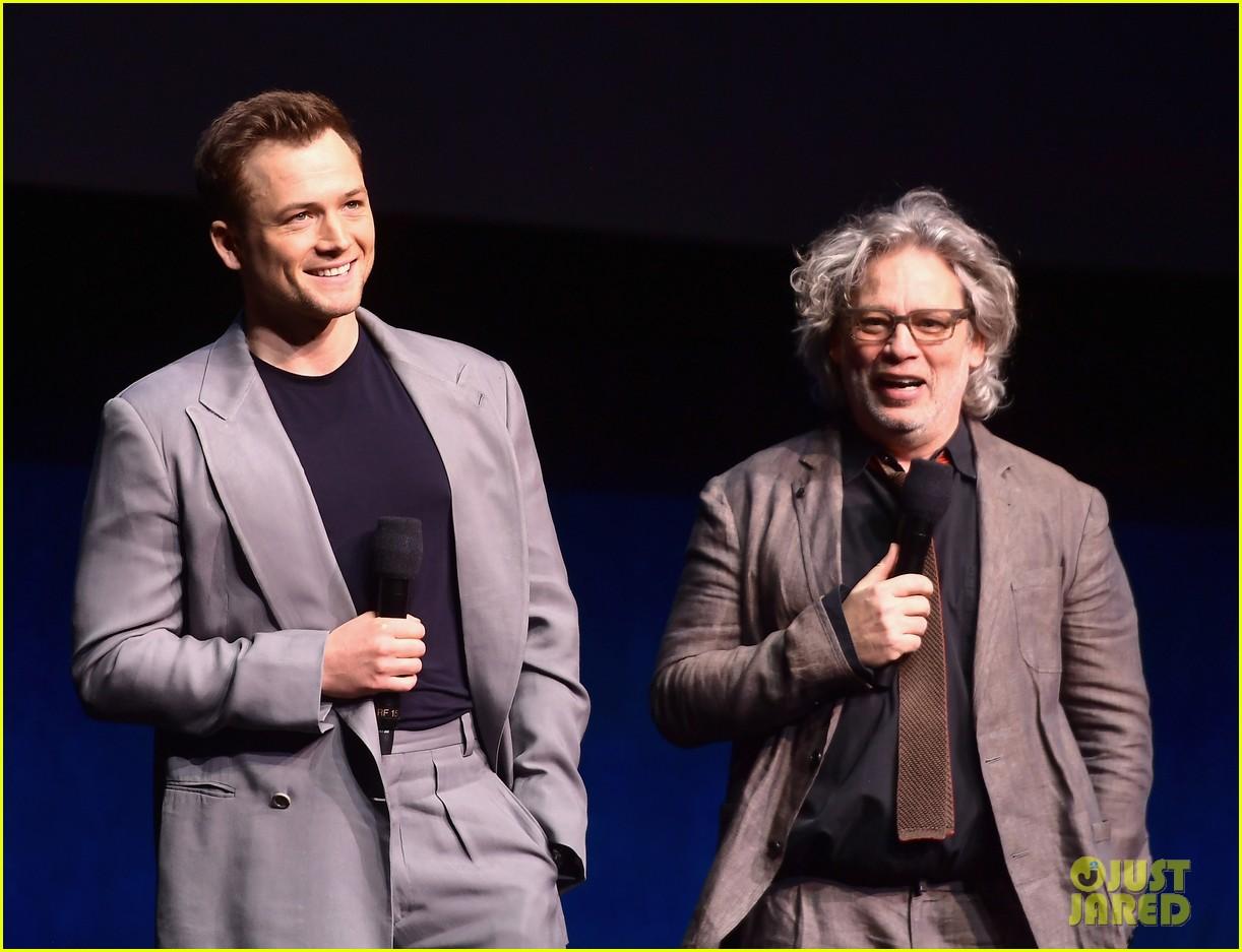 Arnold Schwarzenegger & Taron Egerton Promote Their Movies at