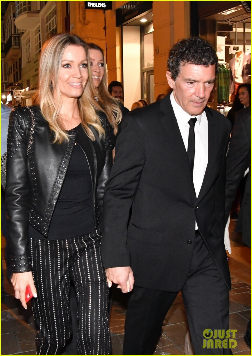 antonio banderas nicole kimpel step out during holy week in spain 01