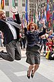 jimmy fallon drew barrymore go undercover for hilarious 30 rock dance party 01
