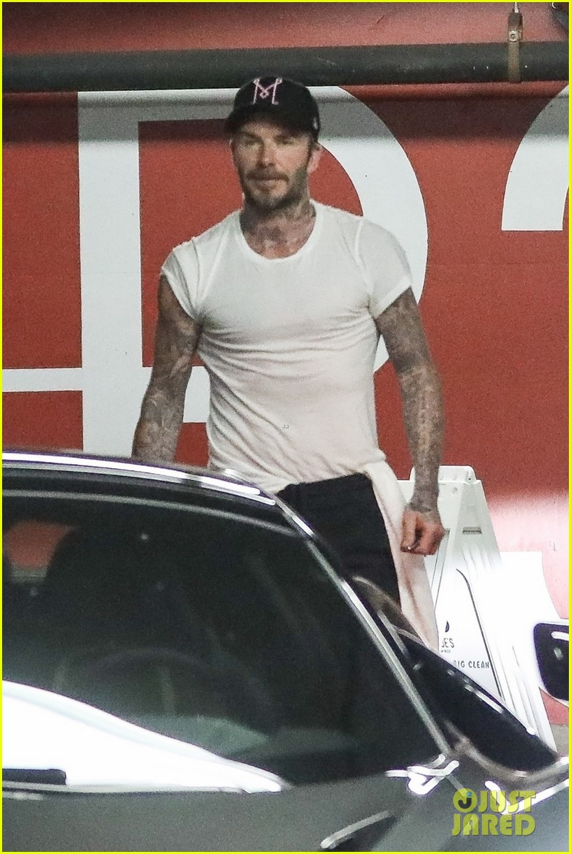 david beckham hits the gym with a friend in weho 02
