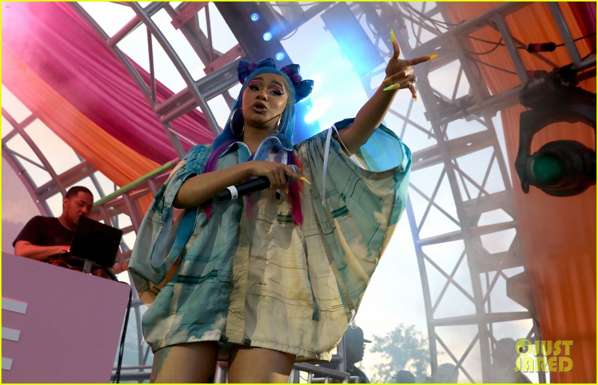 cardi b hits the stage at revolve party at coachella 014273137