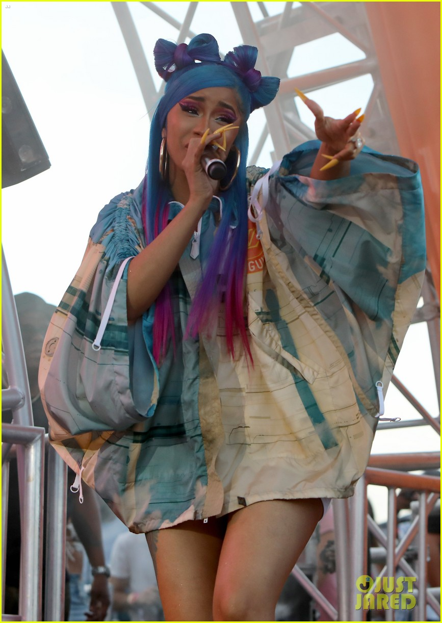 cardi b hits the stage at revolve party at coachella 034273139