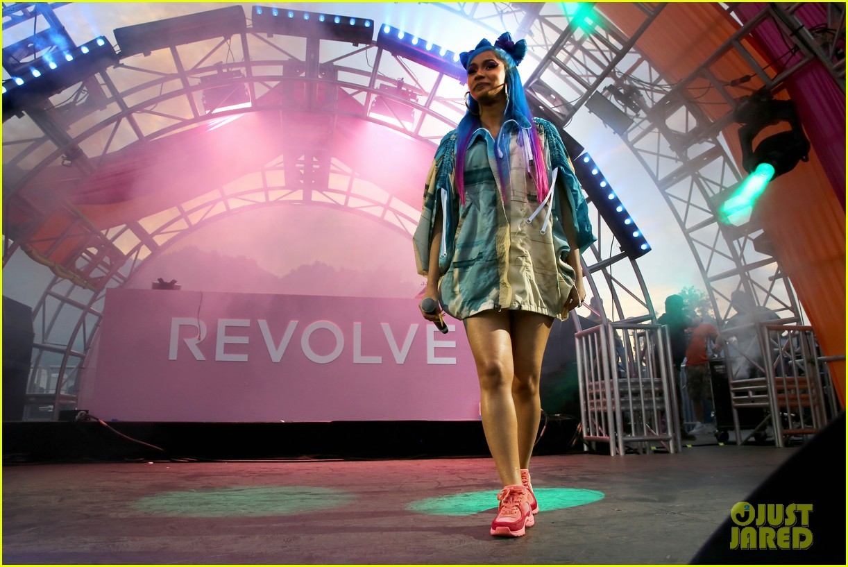 cardi b hits the stage at revolve party at coachella 064273142