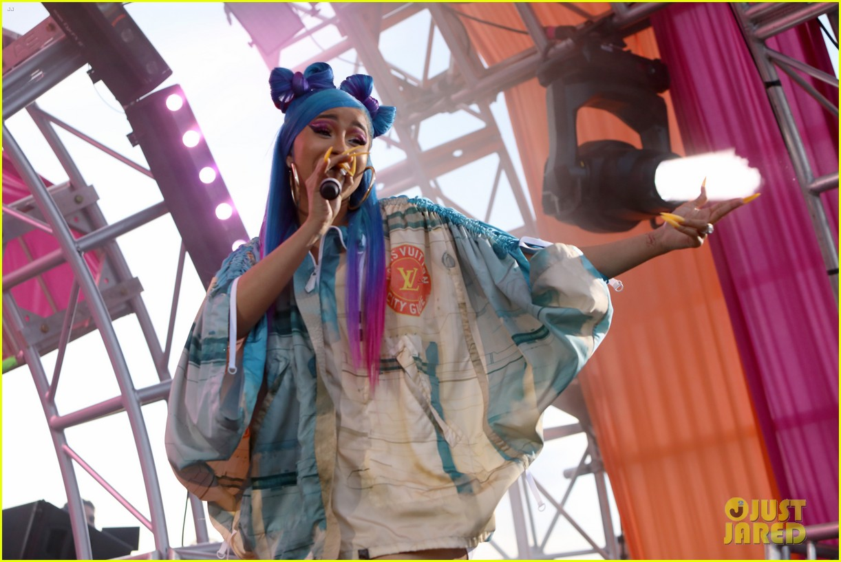 cardi b hits the stage at revolve party at coachella 094273145