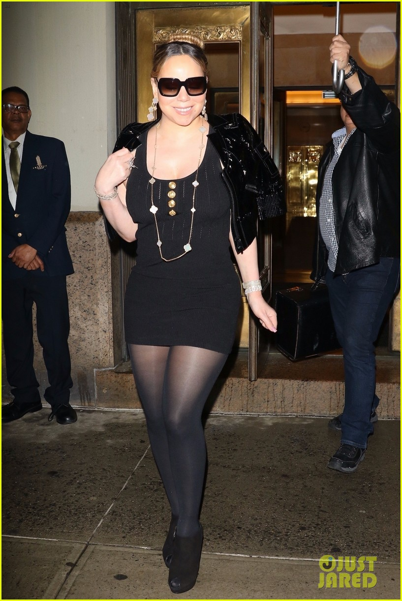 mariah carey stuns in little black dress while stepping out in nyc 014275605