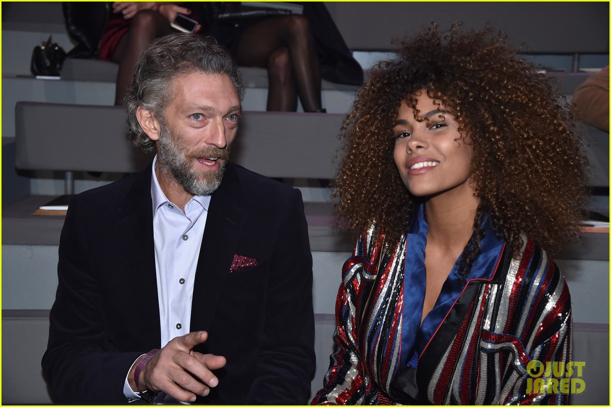 vincent cassel wife tina kunakey gives birth 024275447