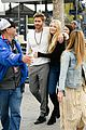chad michael murray at extra with sarah roemer 01