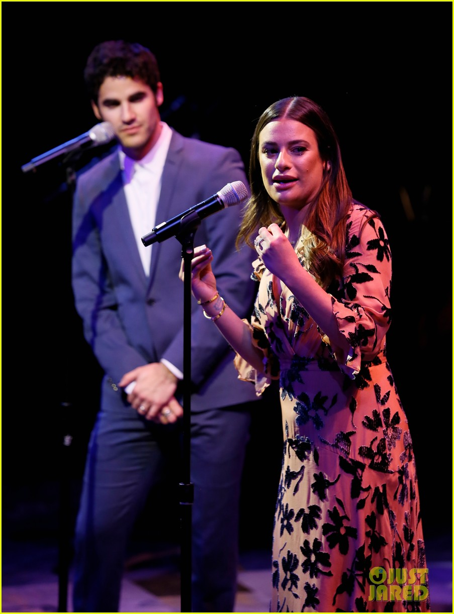 lea michele darren criss perform together at center theatre groups a grand night 014276515