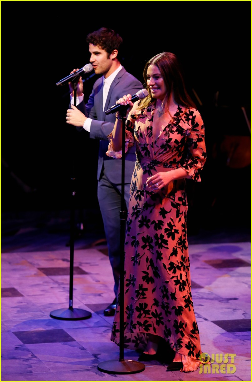 lea michele darren criss perform together at center theatre groups a grand night 224276536