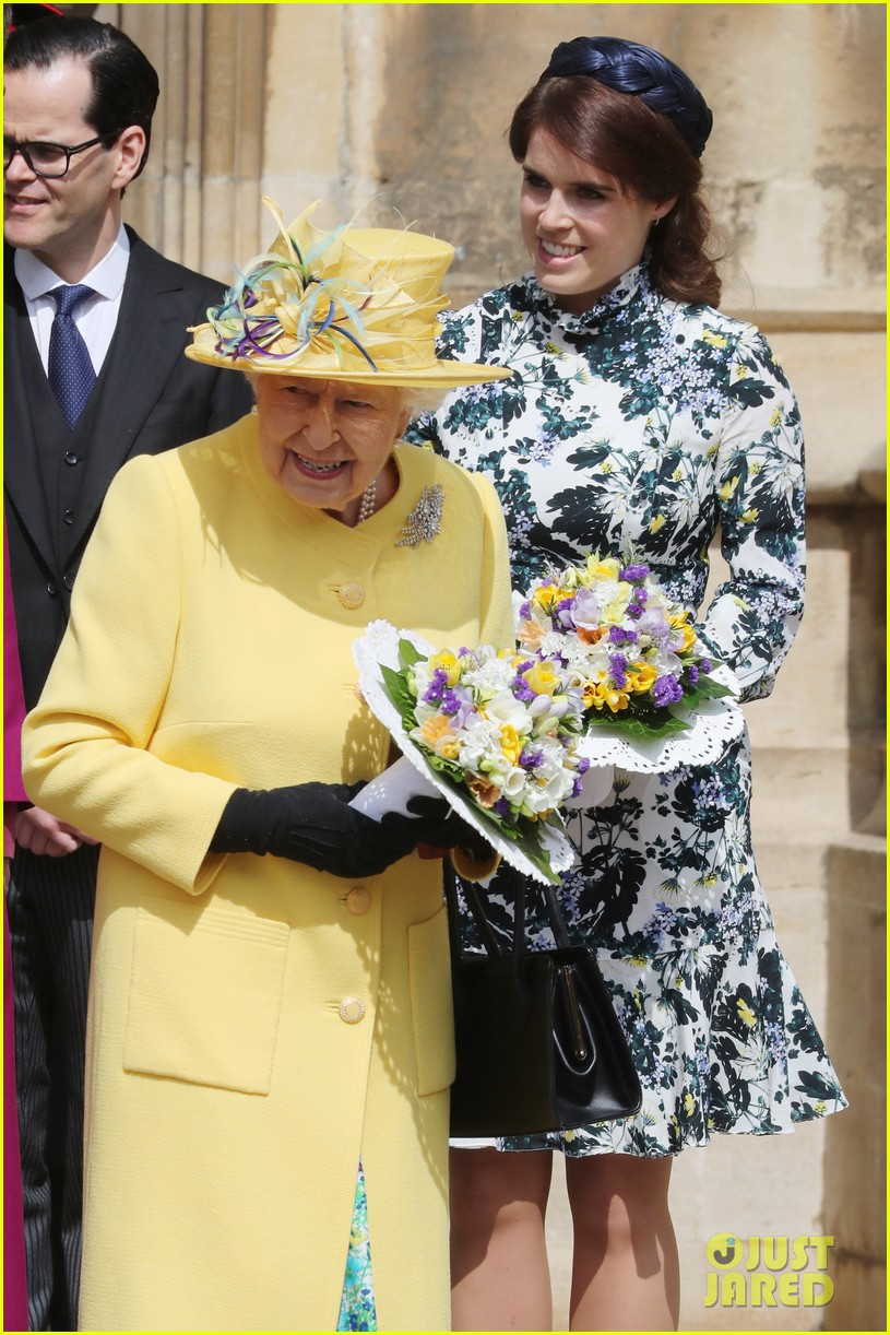 queen elizabeth joined by princess eugenie for easter coin ceremony 20