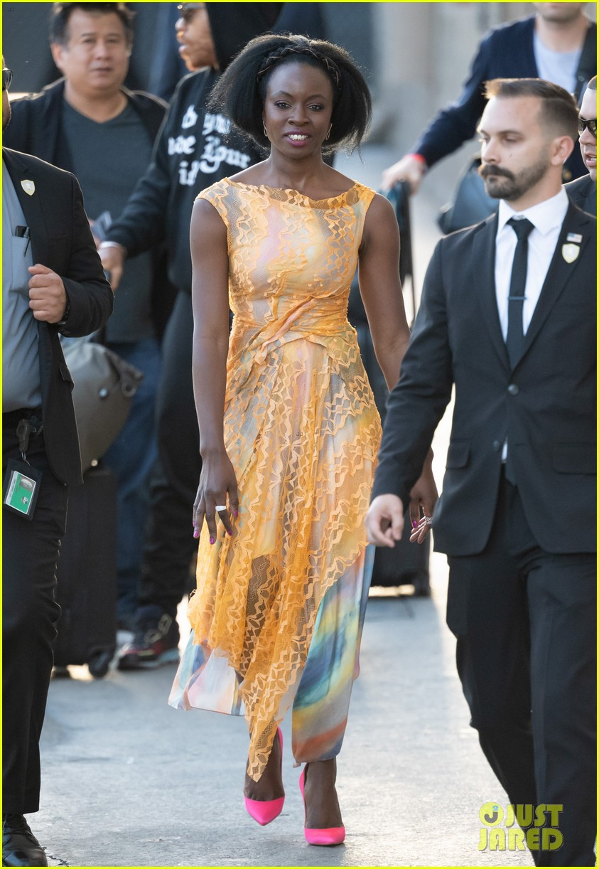 danai gurira explains real life walking dead michonne moment to fend off wild coyote 03