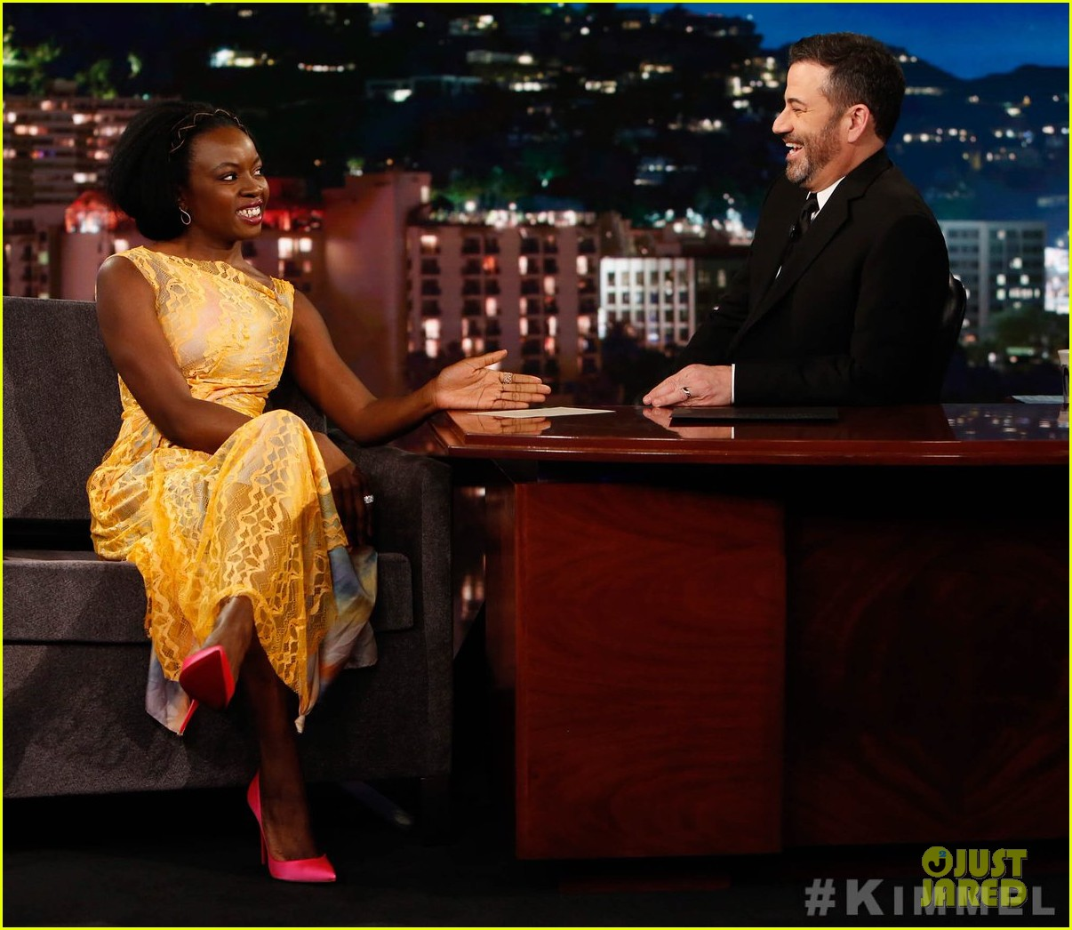 danai gurira explains real life walking dead michonne moment to fend off wild coyote 04