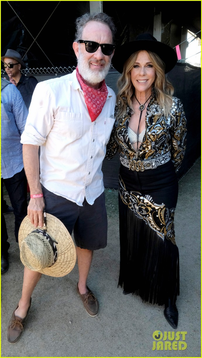 tom hanks supports rita wilson she performs at stagecoach 174278890