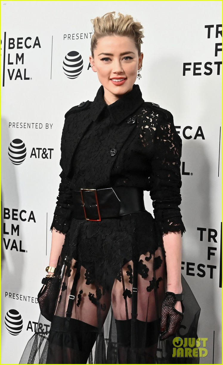 amber heard rocks edgy lace look for gully premiere at tribeca 044278677