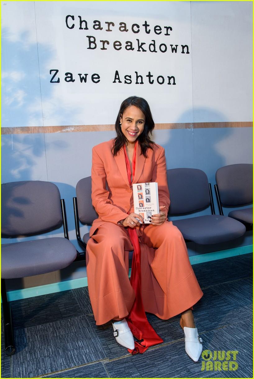 tom hiddleston supports betrayal co star zawe ashton at book launch 01