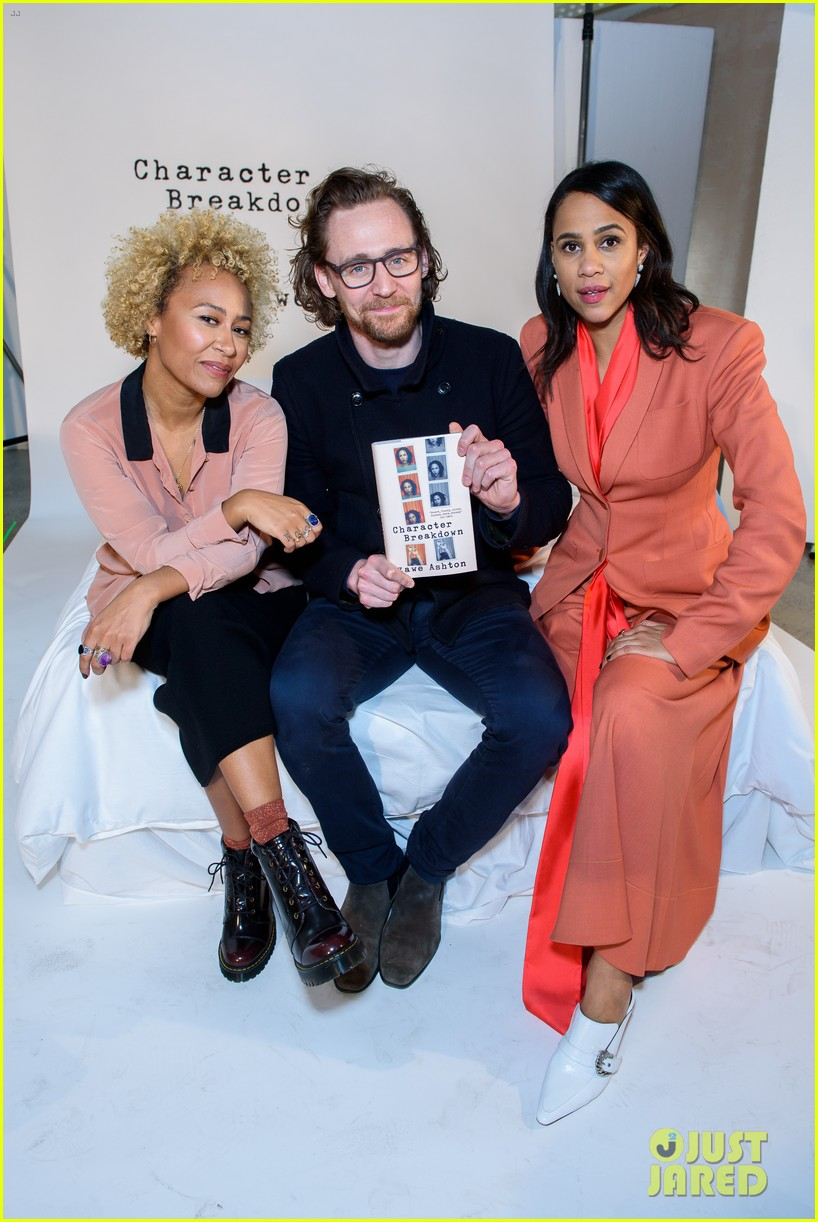 tom hiddleston supports betrayal co star zawe ashton at book launch 03