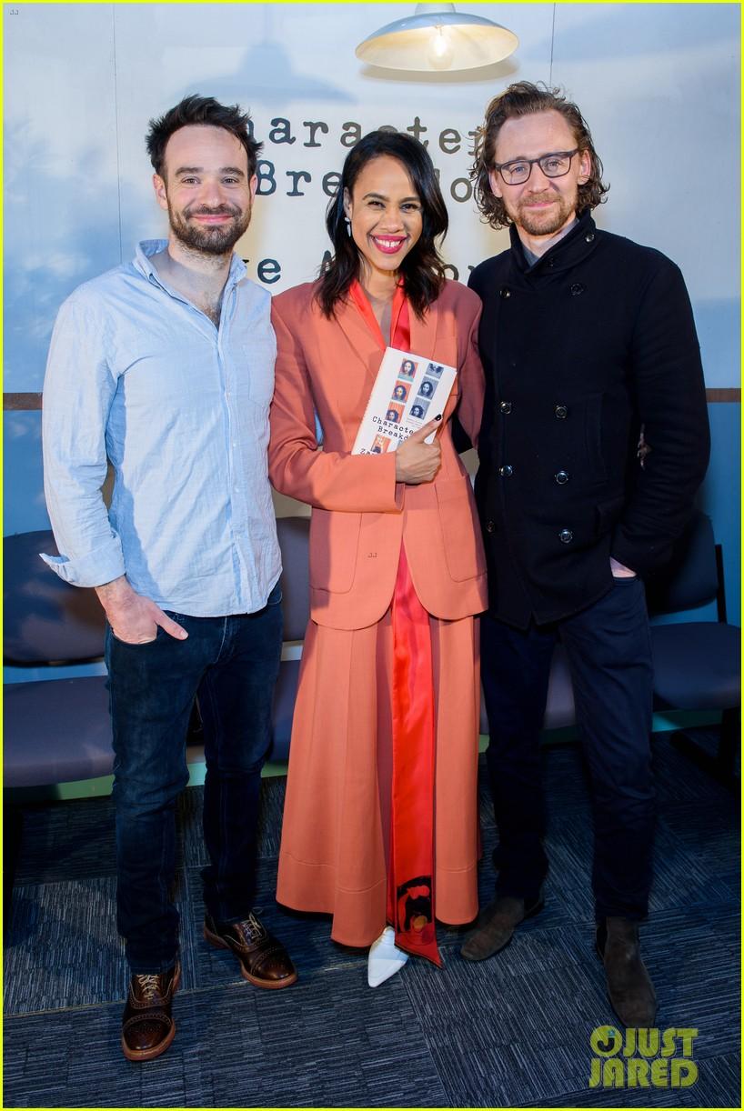 tom hiddleston supports betrayal co star zawe ashton at book launch 05
