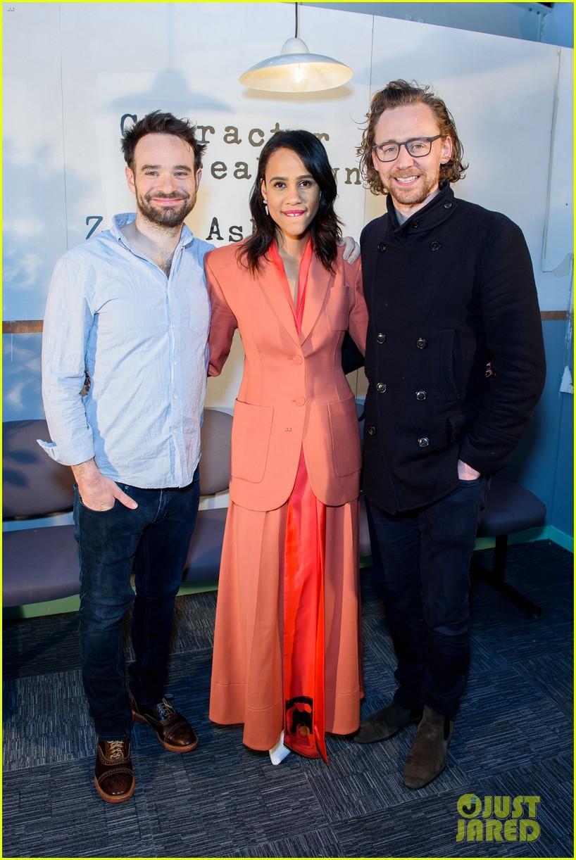 tom hiddleston supports betrayal co star zawe ashton at book launch 16