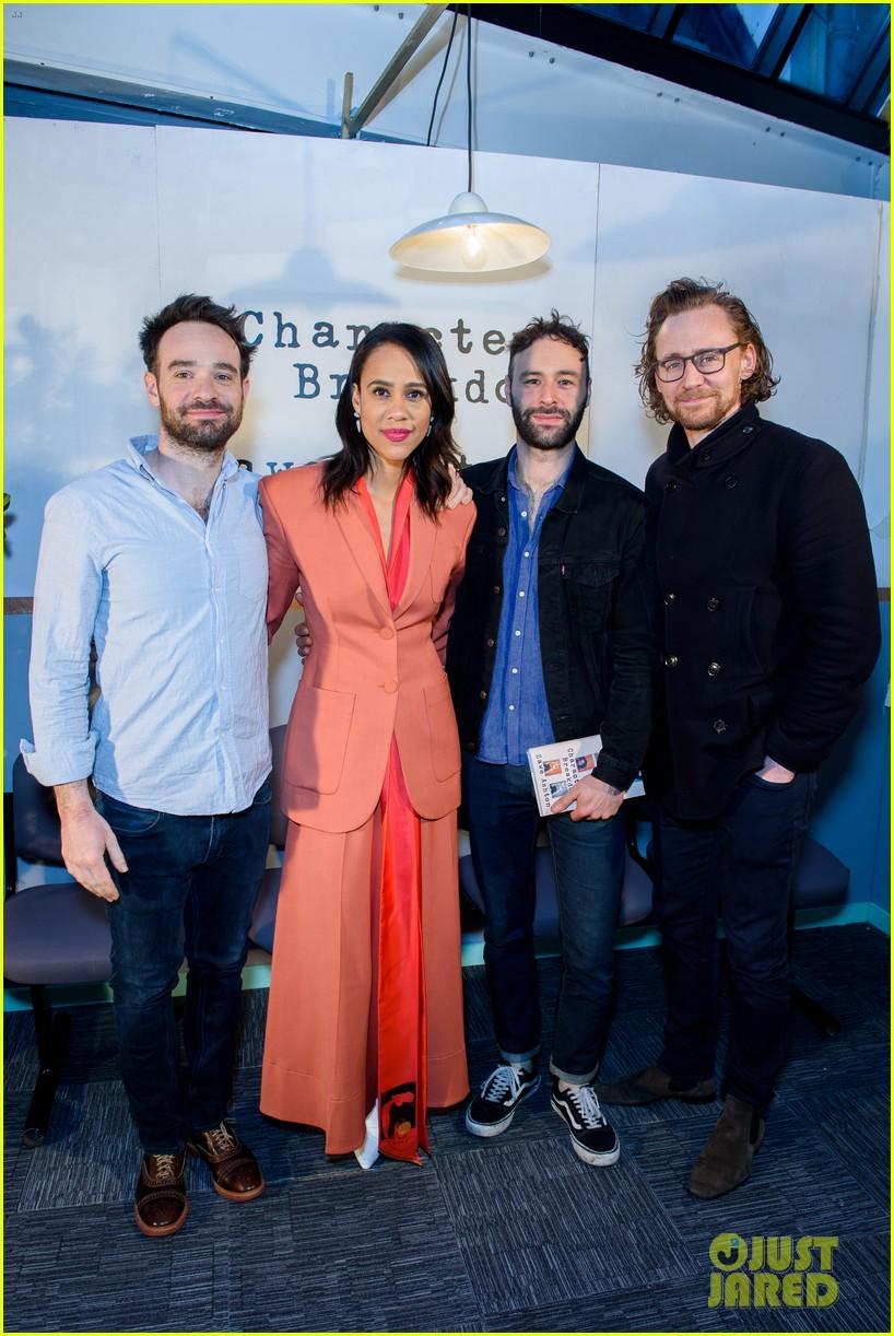 tom hiddleston supports betrayal co star zawe ashton at book launch 17
