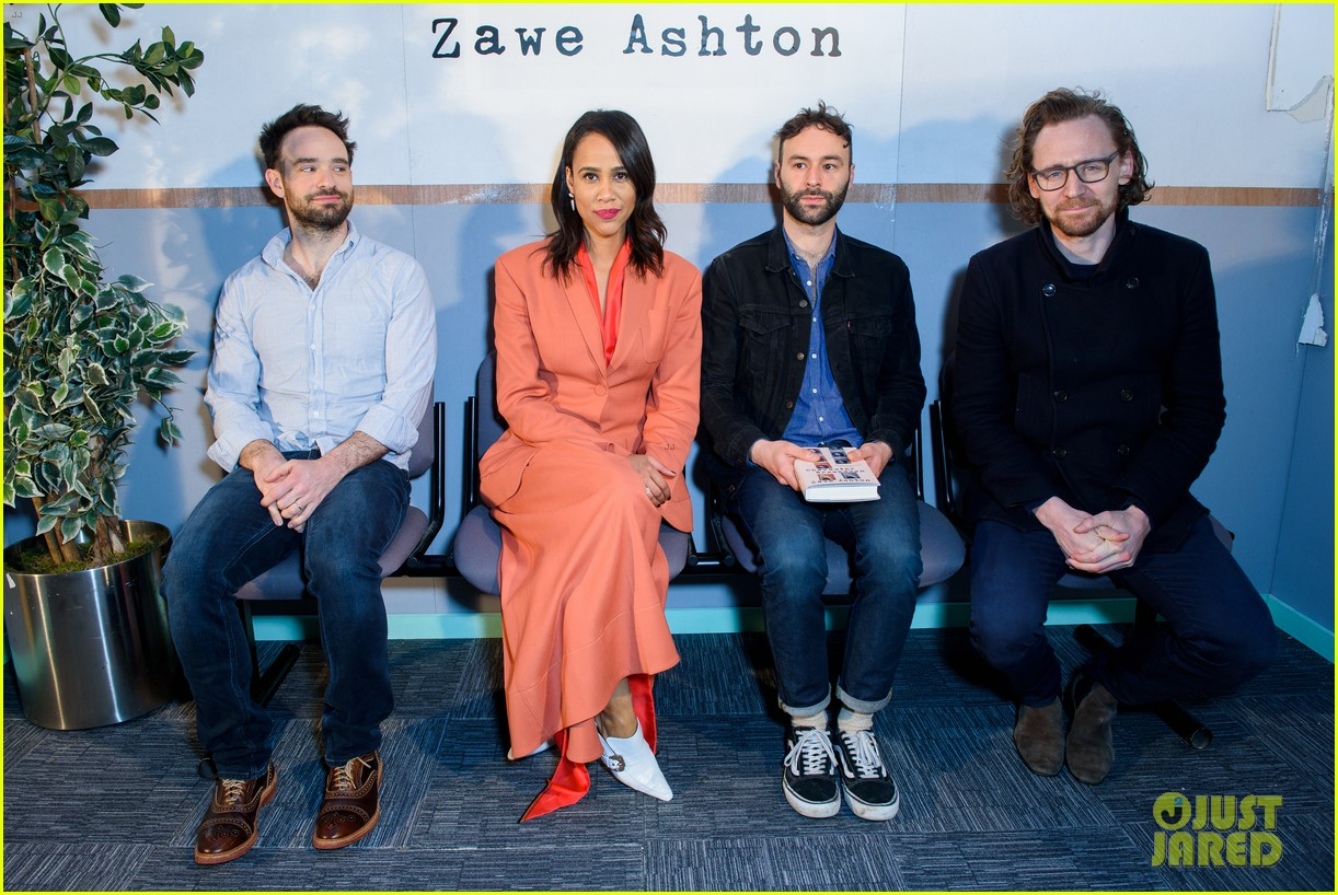 tom hiddleston supports betrayal co star zawe ashton at book launch 18