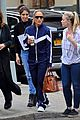 jennifer lopez sports navy tracksuit for coffee outing 05