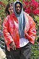 kanye west rocks tie dye while leaving the office 01