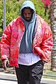 kanye west rocks tie dye while leaving the office 05