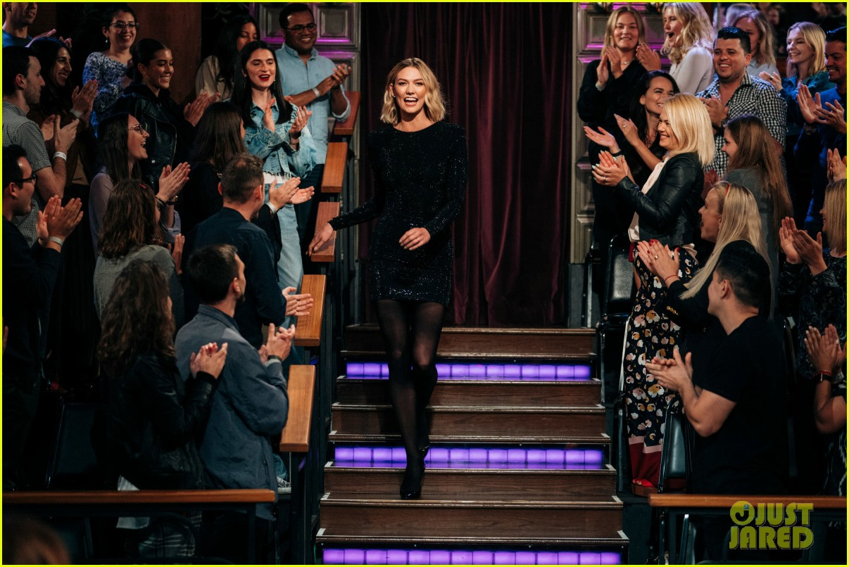 karlie kloss reveals her best beauty hack on late late show 03