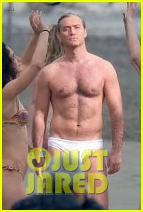 jude law leaves little imagination shirtless young pope scene 15