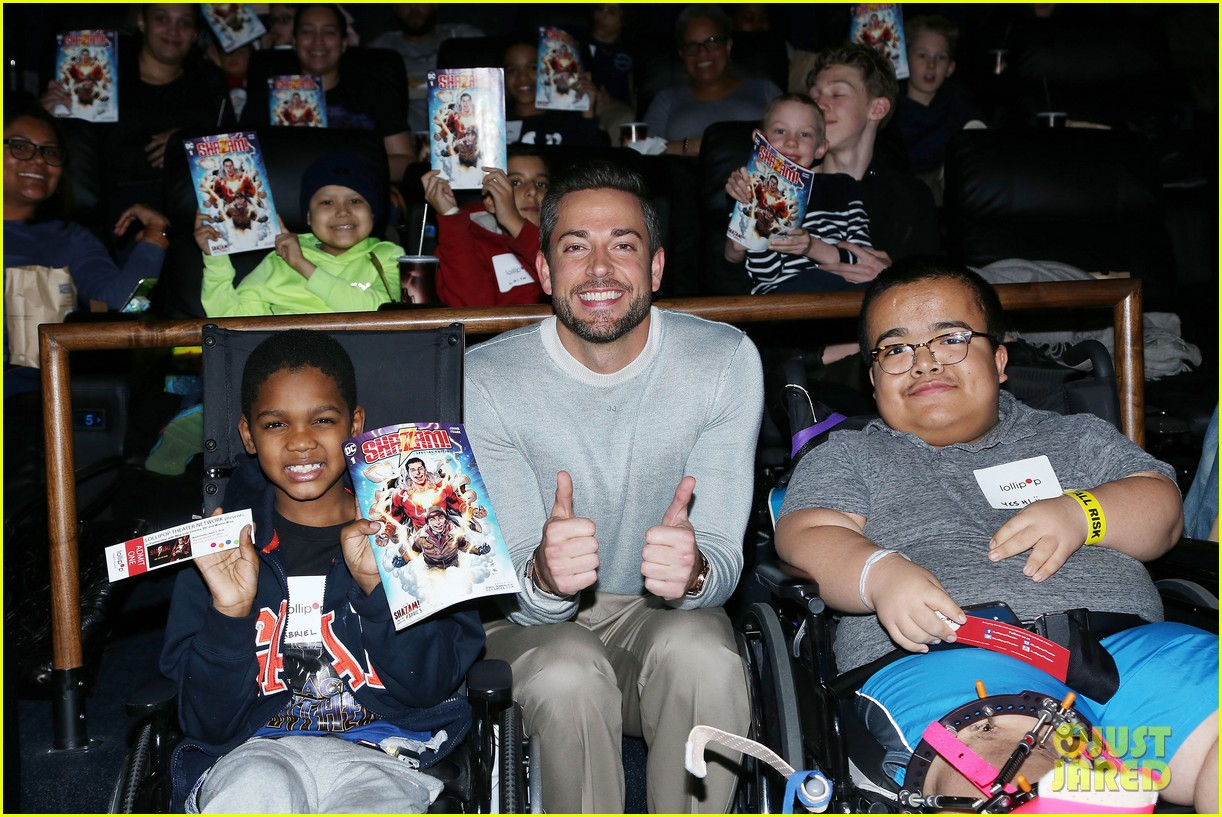 zachary levi teams up with lollipop network for shazam screening 02
