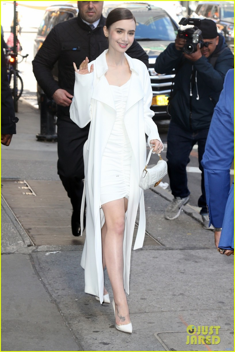 lily collins good morning america appearance 03