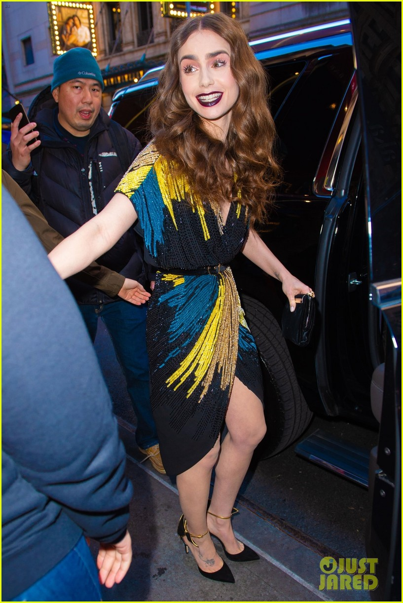 lily collins good morning america appearance 05