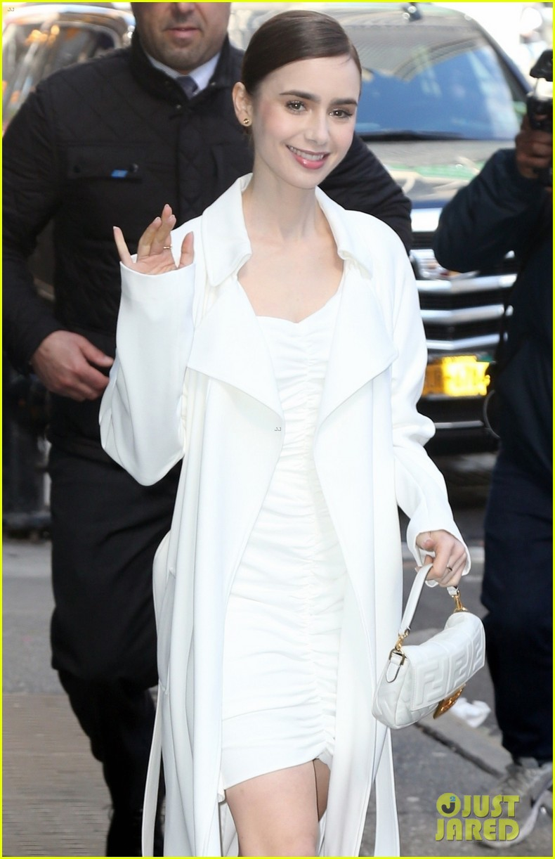 lily collins good morning america appearance 06