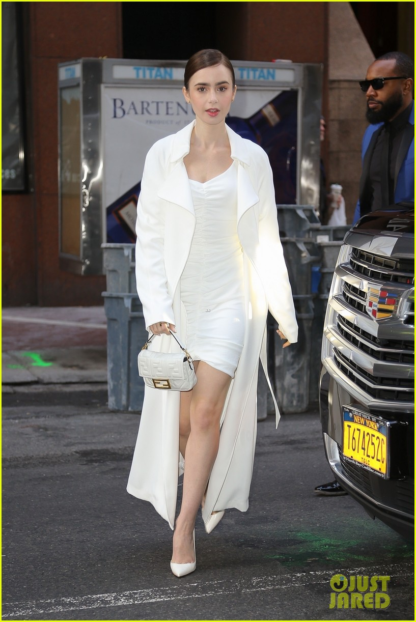 lily collins good morning america appearance 07