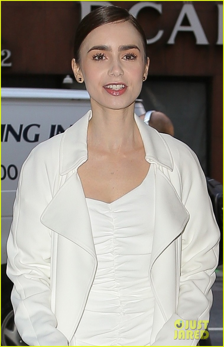 lily collins good morning america appearance 08