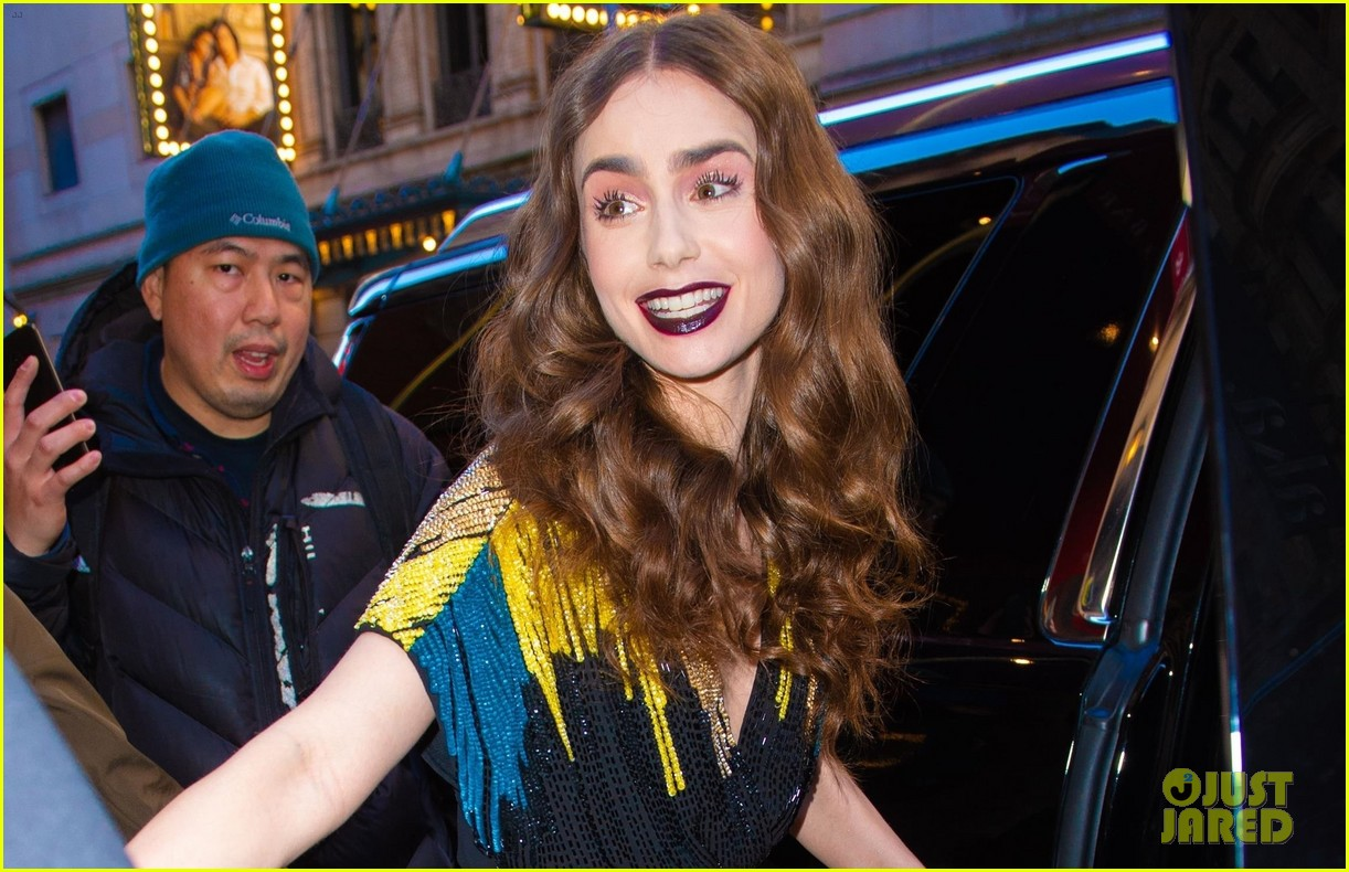 lily collins good morning america appearance 09