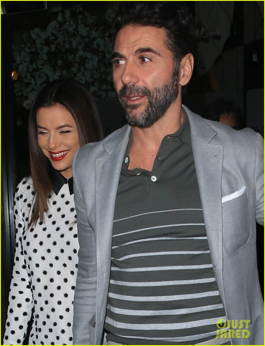 eva longoria jose baston grab dinner in beverly hills 02