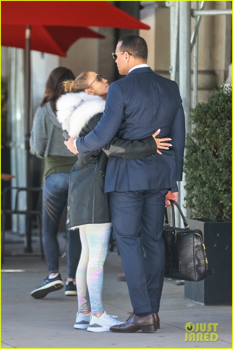 jennifer lopez and alex rodriguez share a kiss while out in nyc 05