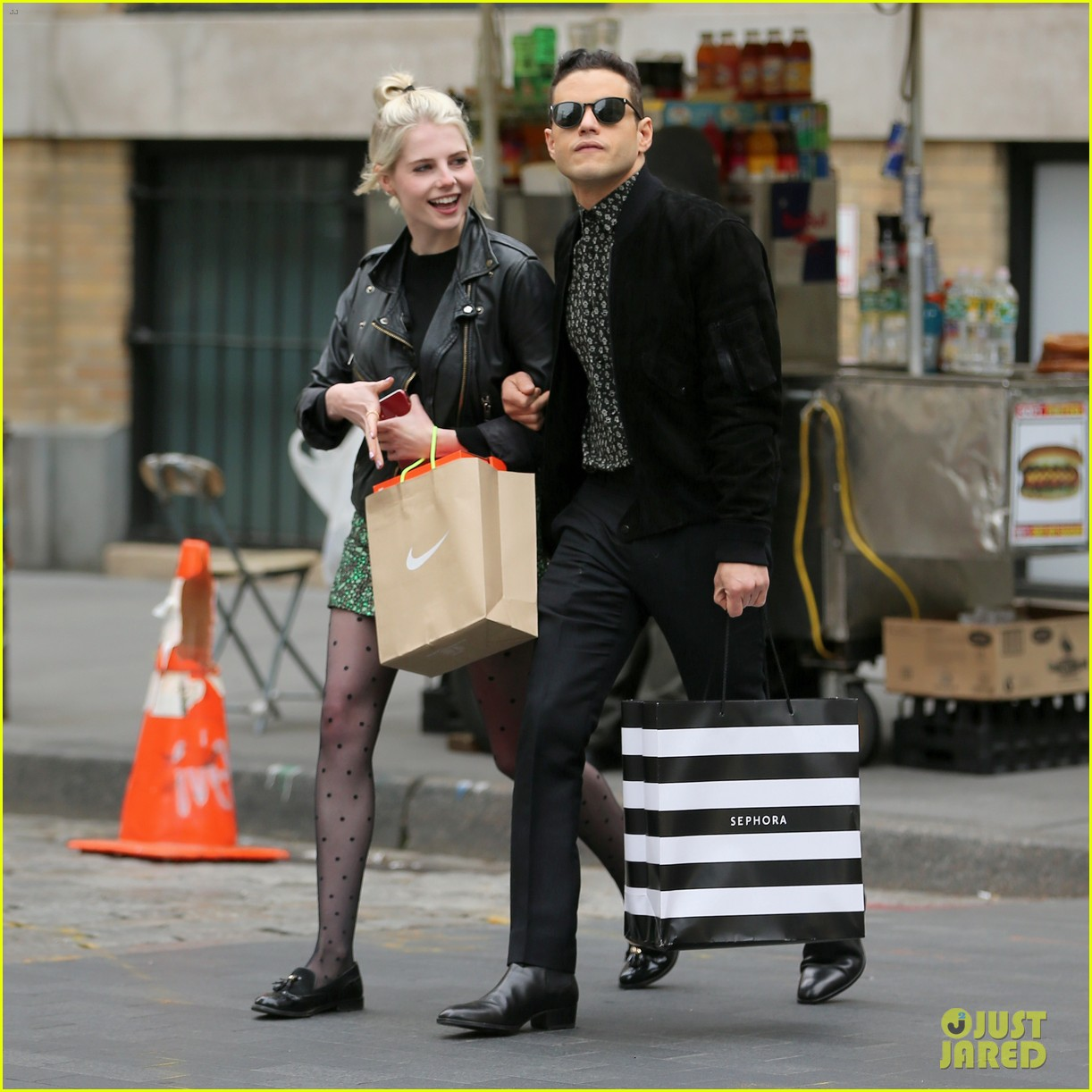 Rami Malek & Lucy Boynton Do Some Shopping In NYC: Photo