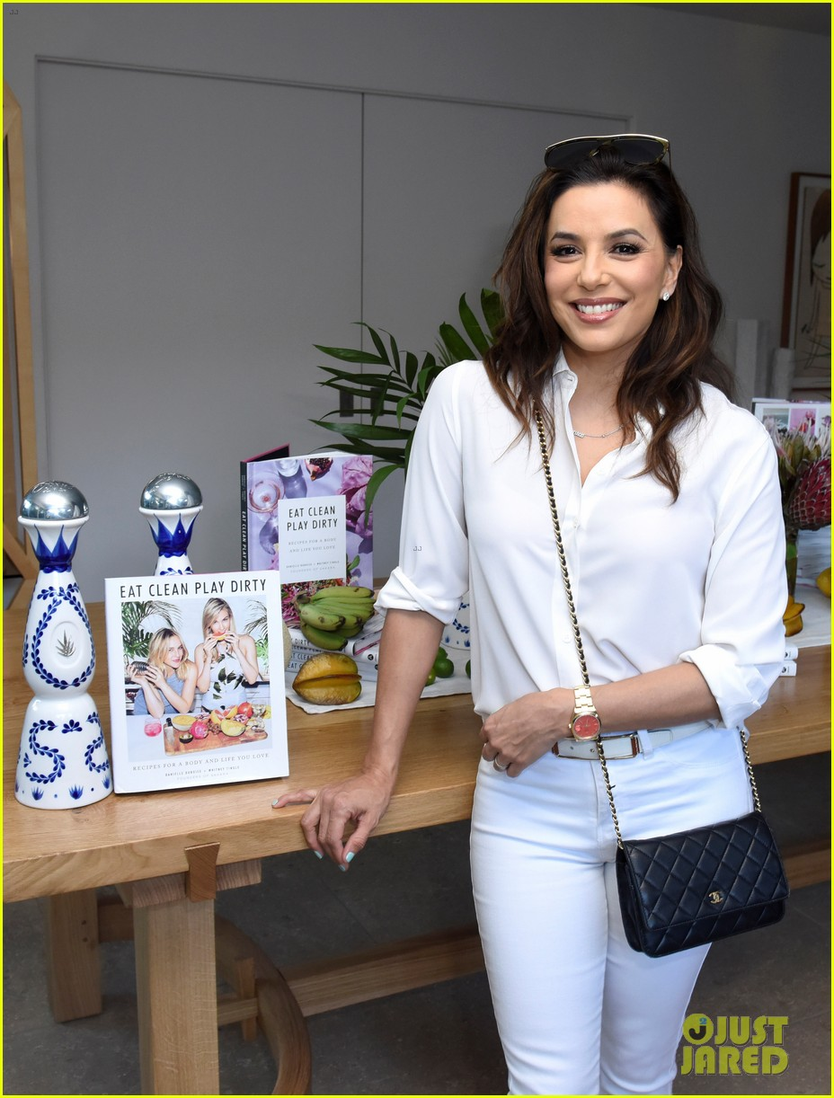 lea michele eva longoria more celebrate eat clean play dirty cookbook launch 014274288