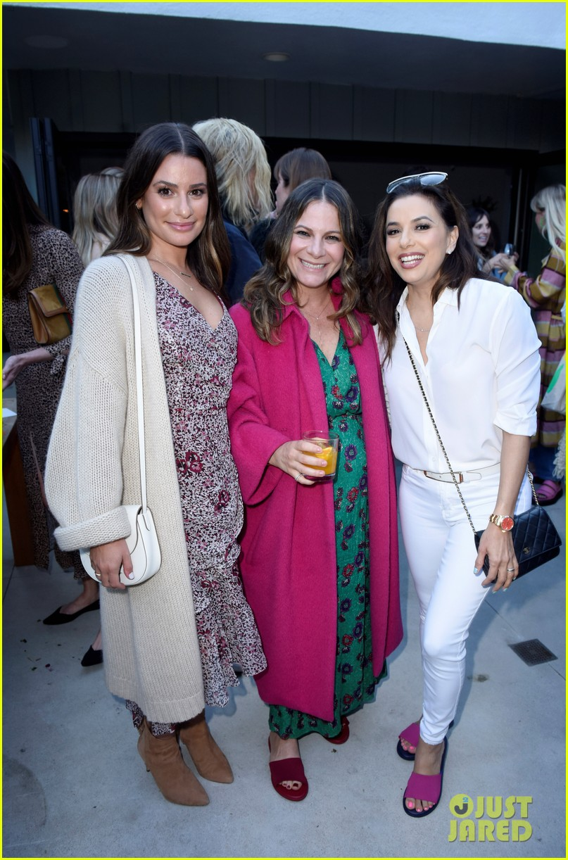 lea michele eva longoria more celebrate eat clean play dirty cookbook launch 424274329