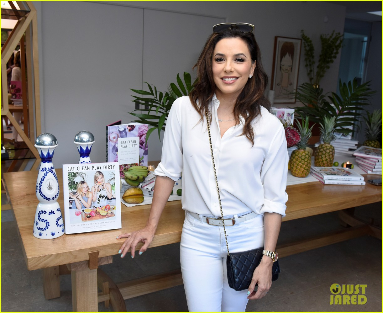 lea michele eva longoria more celebrate eat clean play dirty cookbook launch 464274333