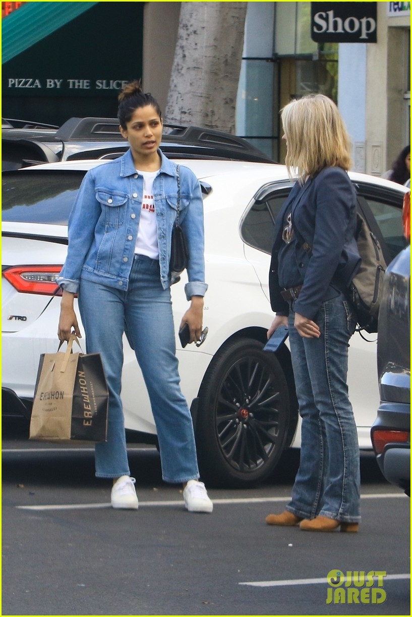 freida pinto goes fresh faced for afternoon outing 05