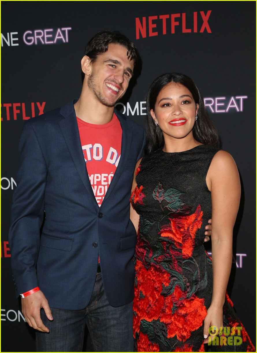 gina rodriguez is supported by fiance joe locicero at someone great premiere 04